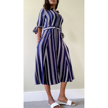 Load image into Gallery viewer, Beverly Hills nautical striped midi dress