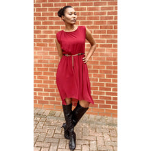 Load image into Gallery viewer, Burgundy dress by Zara