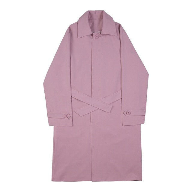Unisex Pink Belted Trench and Coord