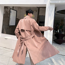 Load image into Gallery viewer, Pleather Unisex Trench Coat