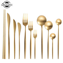Load image into Gallery viewer, Luxury brushed metal Cutlery. Available in gold, silver, rose gold and gorgeous pastel colours to flatter any table setting.