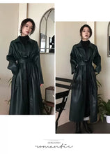 Load image into Gallery viewer, Pleather Belted Trench