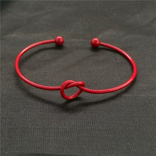 Load image into Gallery viewer, Metal love knotted bracelet female bracelet