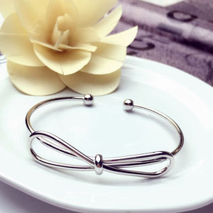 Explosion model metal love knotted bracelet female bracelet opening rose gold hand jewelry women jewelry