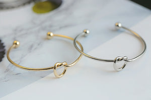 Metal love knotted bracelet female bracelet