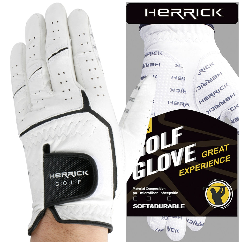 Free shipping Golf Gloves Men's Left Hand Soft Breathable Sheepskin With Anti-slip Granules Golf Gloves for Men