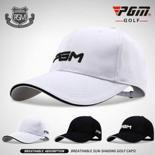 Load image into Gallery viewer, PGM 2019 new Mens golf Cap Womens Sun screen sports Hat ultra light cotton comfortable breathable fish uv Caps man woman sun hat