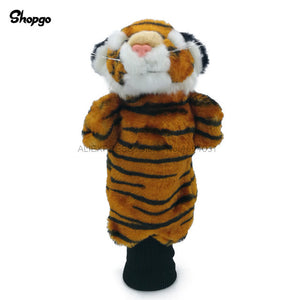 3 Colors Mini Tiger Golf Head Cover Fairway Woods Hybrid Animal Golf Clubs Headcover No For Driver Mascot Novelty Cute Gift