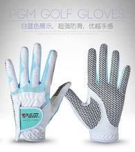 Load image into Gallery viewer, Middle finger length 6.5-8.5cm Non-slip Sportwear Gloves PGM Girl Golf Gloves Antiskid Microfiber Cloth  Women Gloves Sunscreen