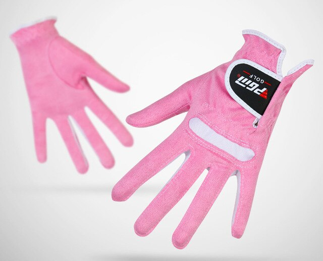 1 Pair PGM Golf Gloves Lady's Super-fibre Gloves Women Left-handed Right-handed Anti-skid Breathability