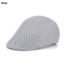 Load image into Gallery viewer, Outdoor New Fashion Golf Beret Cap Flat Cap British Style Peaked Cap Summer Breathable Mesh Travel sport Golf Hat for Men Women