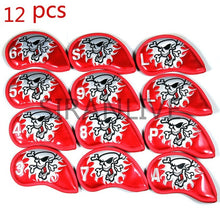 Load image into Gallery viewer, 9pcs Iron Headcover Club Head Cover iron head covers Pu Leather Golf Head Cover