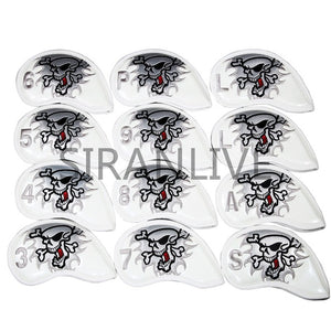 9pcs Iron Headcover Club Head Cover iron head covers Pu Leather Golf Head Cover