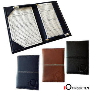 PU Leather Cover Golf Scorecard Holder Scoring Book Wallet Training Aids Score Card with 2 Paper Deluxe Stat Tracker 1 Pc Gifts