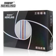 Load image into Gallery viewer, Supur NEWLING Golf Balls Triple Lines 3 Layers Supur Long Distance Balls 12 pcs / Box