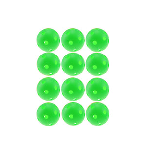 12pcsX72mm Plastic Golf Ball Pickleball Airflow Ball Floorball Hollow Indoor Practice Ball Fun-air Scoop Ball Golf Accessories