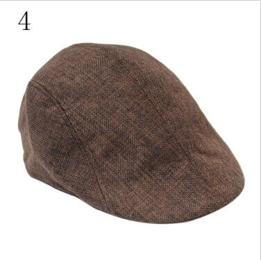 1PCS New arrival Mens Vintage Herringbone Flat Cap Peaked Riding Hat Beret Country Golf Hats