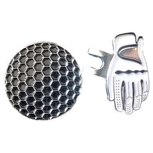 Load image into Gallery viewer, Alloy Silver Magnetic Visor Hat Cap Clip Removable Metal Golf Ball Marker Set Golf Hat Clip