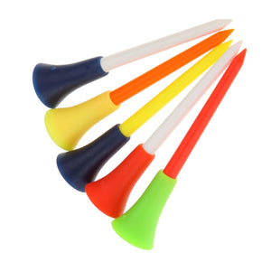 GOG 30 Pcs/Pack Plastic Golf Tees Multi Color 8.3CM Durable Rubber Cushion Top Golf Tee Golf Accessories