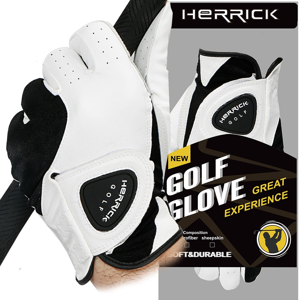 golf glove men  sheepskin Left hand genuine leather Breathable soft  Skidproof and clingy wear-resisting  freeshipping