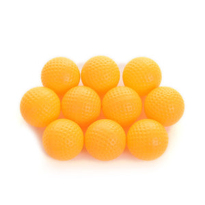10 Pcs/lot Yellow Plastic Elastic Golf Balls Golf Practice Training Ball Training Aid Outdoor New Arrival