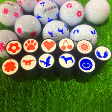 Load image into Gallery viewer, Quick-dry Plastic Golf Ball Stamper Stamp Marker Impression Seal Golf Club Accessories Symbol Golfer Souvenir Gift