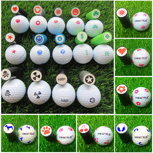 Quick-dry Plastic Golf Ball Stamper Stamp Marker Impression Seal Golf Club Accessories Symbol Golfer Souvenir Gift
