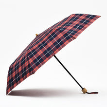 Load image into Gallery viewer, Scottish Plaid Umbrella Rain Women Bamboo Long Handle Umbrellas Windproof 8 K Stick Golf Umbrella Folding 190T Pongee Paraguas