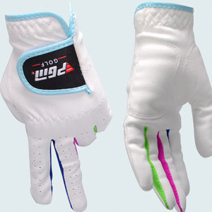 PGM Authentic Children Sport Hands Gloves Girs Pink Kids Boy White Golf Gloves Left and Right Waterproof Golf Gloves New #16 17