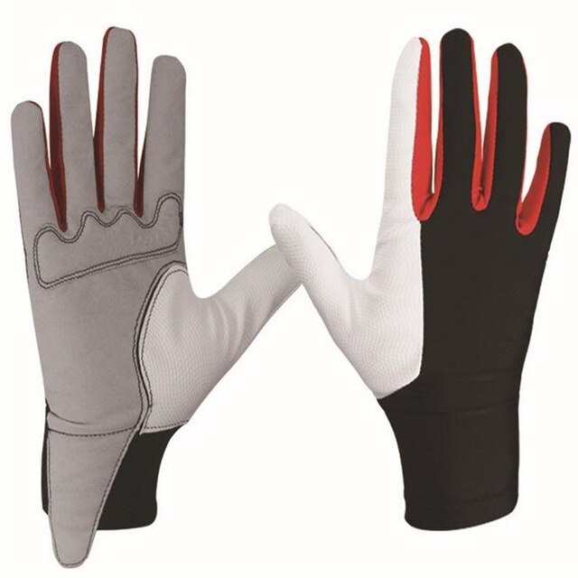 Microfiber fabric Comfortable Skidproof Riding Gloves Breathable Golf Gloves
