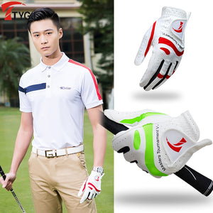 2020 New Products Golf Gloves Men's Non-slip Breathable Sheepskin Fiber Cloth Gloves Single Left Washable Sportswear Accessories