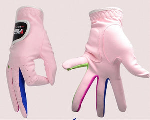 For Children Microfiber fabric Soft Breathable Magic Golf Gloves skidproof Sport glove