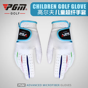 Golf Children's Gloves Left and Right Hands Precision Weapons Ultra-fiber Fabric Non-slip Breathable Gloves