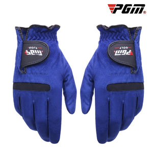 PGM Golf Gloves Men's Left Right Gloves Sport Sweat Absorbent Microfiber Cloth Glove Soft Breathable Abrasion Golf Accessories