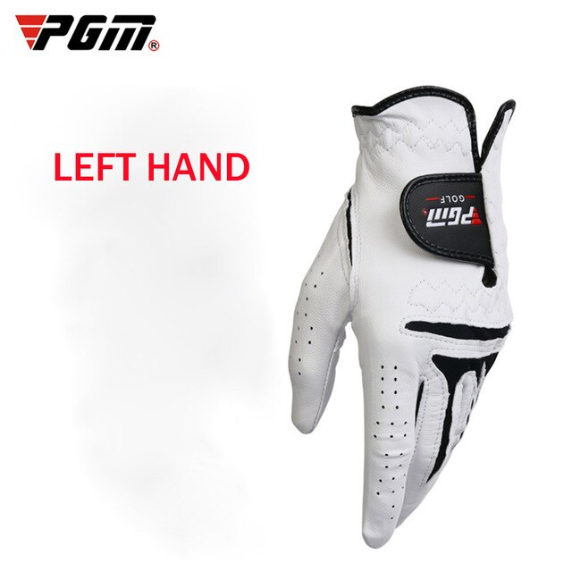 Mounchain Men's 1 piece Golf Glove Breathable Leather Sheepskin Left or Right Single Hand Anti-skid Glove for adults men