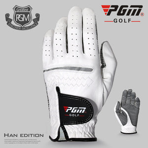 New PGM Golf Gloves Sheepskin Men's Sport Gloves Soft Breathable Lambskin Accessories Have Left & Right Hands Non-slip Particles
