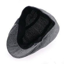Load image into Gallery viewer, Mens Vintage Herringbone Flat Cap Peaked Riding Hat Beret Country Golf Hats
