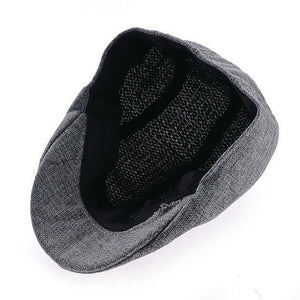 Mens Vintage Herringbone Flat Cap Peaked Riding Hat Beret Country Golf Hats