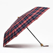 Load image into Gallery viewer, Tiohoh Umbrella Rain Women Plaid Style Bamboo Long Umbrella Windproof Folding Umbrella Colors Brand Golf Umbrellas 8K Paraguas