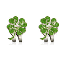 Load image into Gallery viewer, Four Leaf Clovers Golf Ball Marker with Golf hat clip Wholesale  Golf Accessories for golfer gift alloy Lucky clover marker