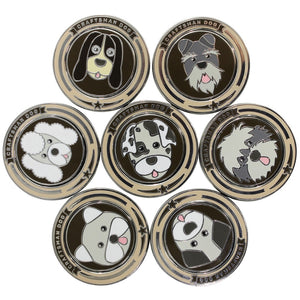 Craftsman Golf Ball Markers Doggie Pattern Magnetic Stainless Steel High Quality Cute and Fun