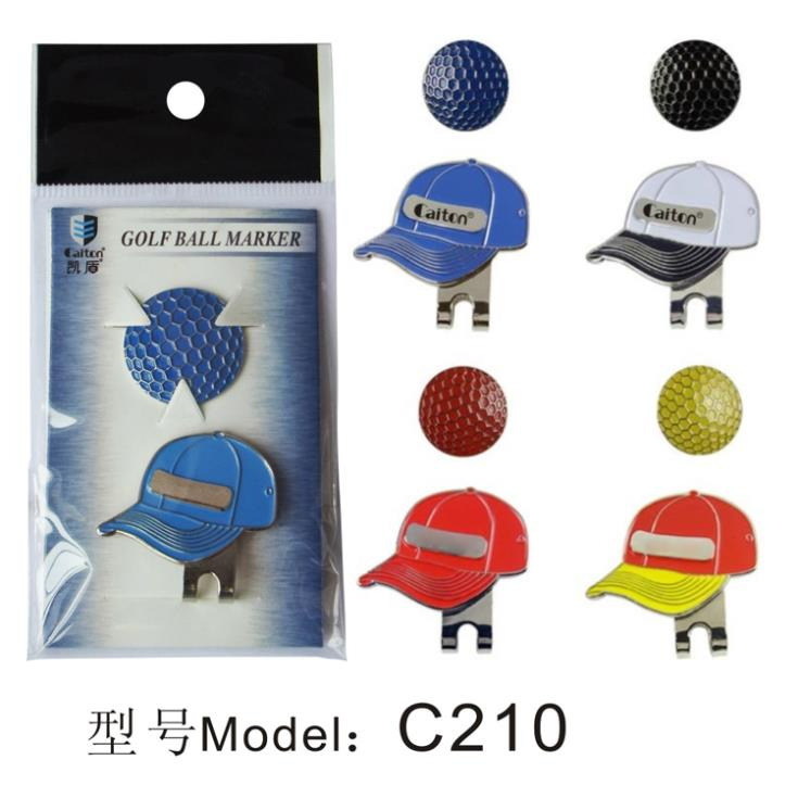 Golf Ball Markers with Magnetic Golf Hat Clips Golf Visor Design  Free Shipping