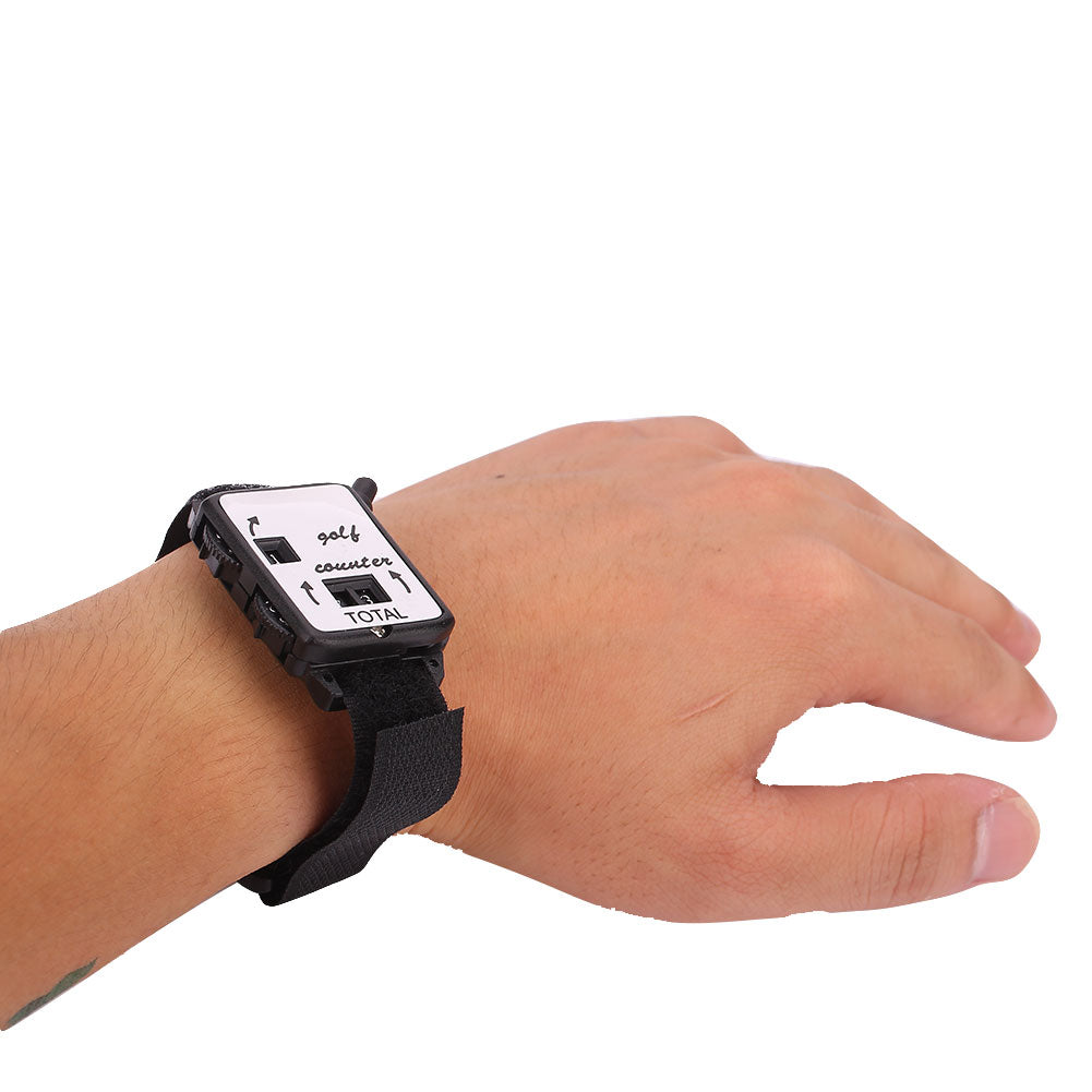 Golf Club Stroke Counter Score Keeper Watch Shape Plastic Sports Portable