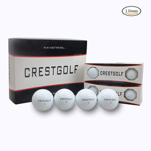 Crestgolf Golf Balls Maximum Distance 3-Piece Golf Ball for Professional Competition White Color 12pcs/box