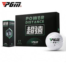 Load image into Gallery viewer, PGM Golf Ultra-long Competition Ball Layer 2 12 Balls/Boxed Exercise Balls Q023-2
