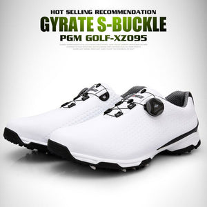 Golf Golf Shoes Men Sports Waterproof Shoes Breathable Knobs Buckle Anti-slip Training Sneakers &T8