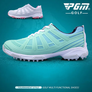 2018 New Arrival PGM Golf Shoes Double Patent Waterproof Anti Skid Shoe For Women Outdoor Leisure Sports Shoes Plus Size 35-40