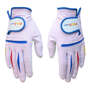 POLO 2015 New Arrival High Quality Super Golf Children Gloves Pair Sport Left and Right Professional Durable Paire Gants Gloves