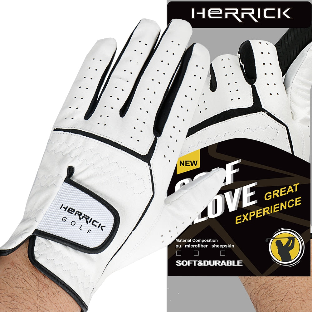 New Golf glove men Left hand glove sheepskin fabric wear-resisting Non-slip   glove free shipping