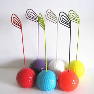 cute colorful golf ball type card holder